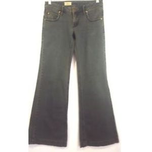 FREE PEOPLE Distressed Wash Flare Wide Leg Jeans